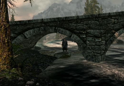 廃墟と化した洞窟の出口